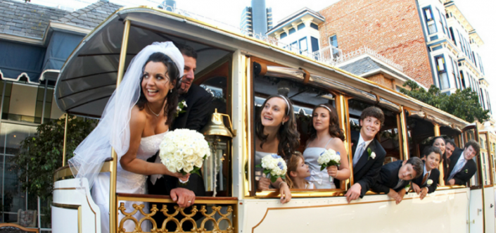 Looking for a fun way to celebration your wedding day? Arrive in style with our classic white trolley bus. Whether you are just looking for a unique way to capture your wedding party photos or catch a ride to the reception, Classy Chassis Limousine Service has a wide range of professional fleet to match your style and budget. Contact us today for reservations.